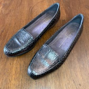 Clarks Metallic Leather Loafers